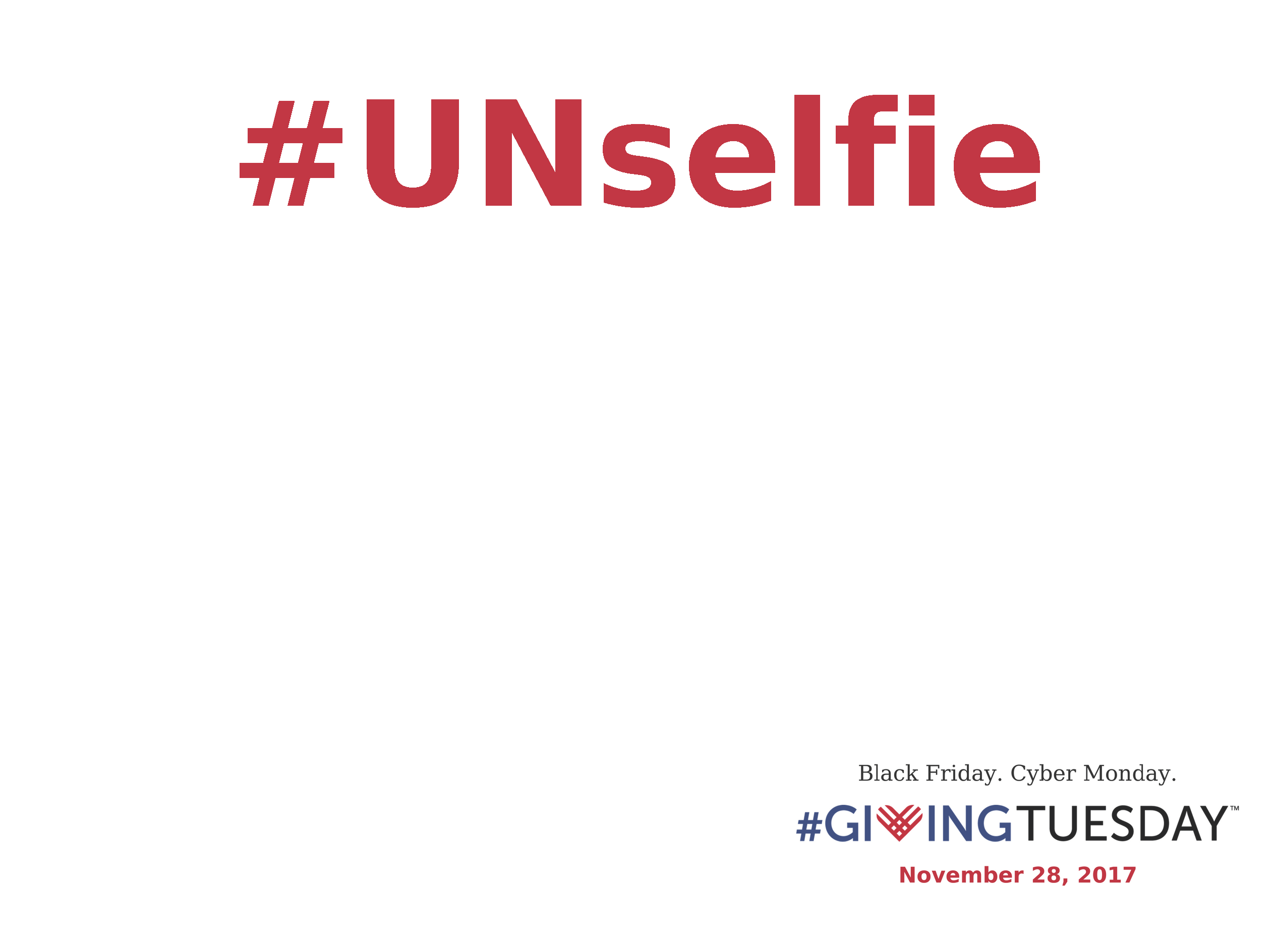 Graphic: Screenshot of GivingTuesday.org Unselfie Sign