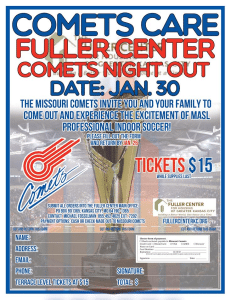 COMETS NIGHT OUT for the Fuller Center for Housing of Greater Kansas City