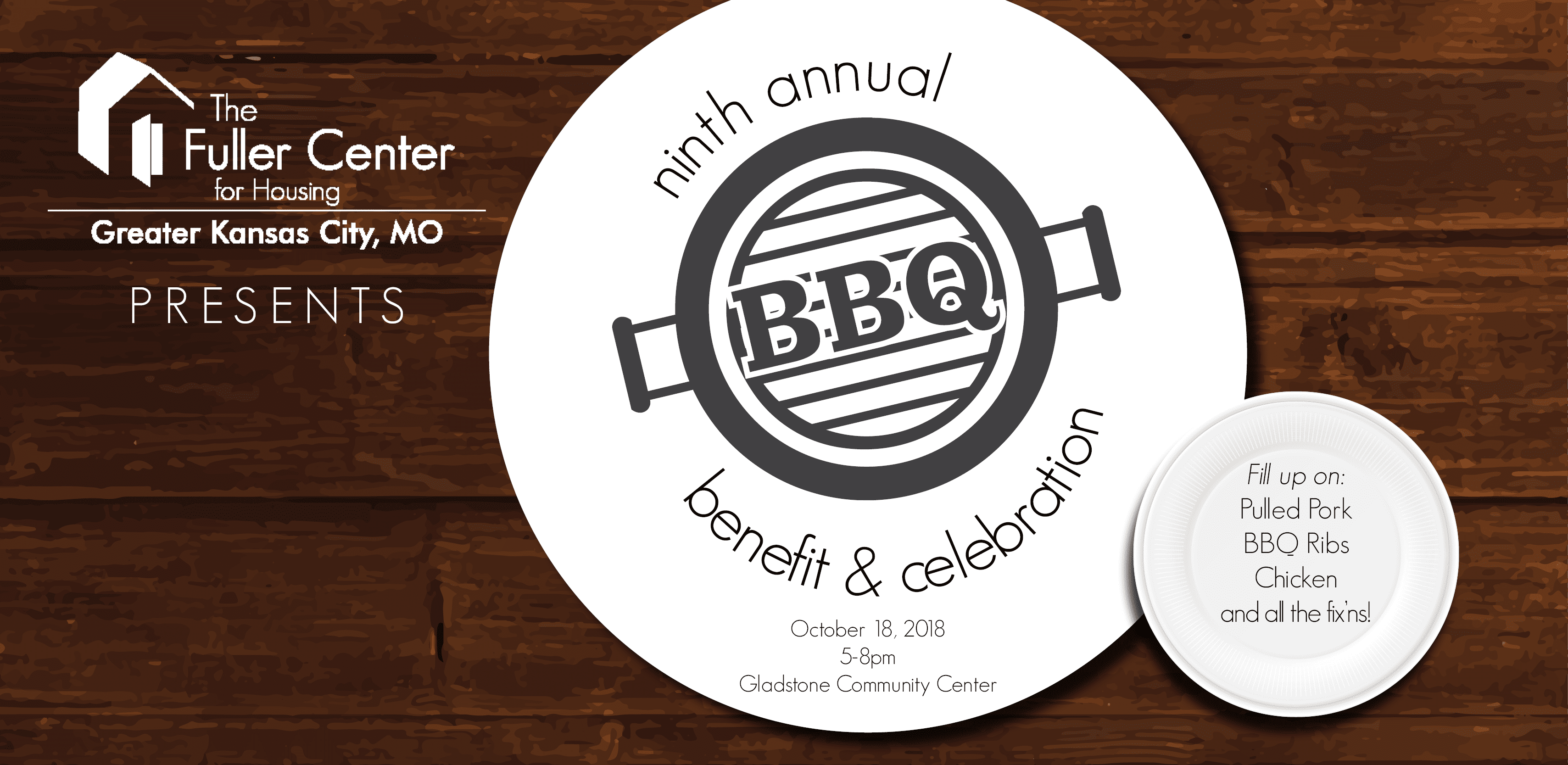 Graphic: Fuller Center for Housing of Greater Kansas City presents 9th Annual BBQ, Benefit & Celebration | fullercenterkc.org