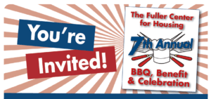 Graphic: Reads You're Invited! Fuller Center for Housing 7th Annual BBQ, Benefit and Celebration!