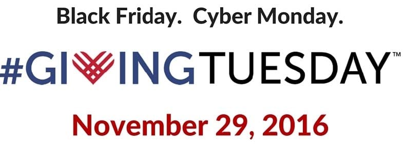 Graphic: Black Friday. Cyber Monday. #GivingTuesday November 29, 2016